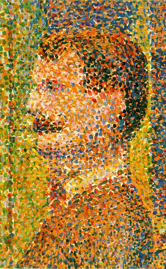 La parade– detalle. George Seurat. 1889