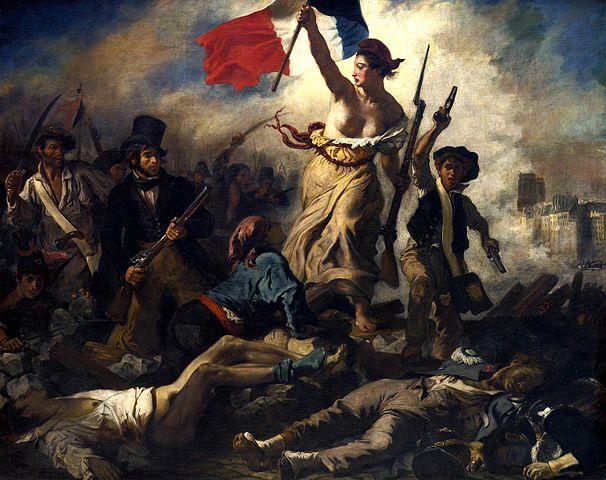 La liberté guidant le peuple. Eugène Delacroix. 1830.