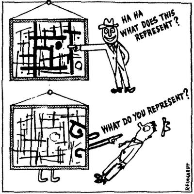 Ad Reinhardt, 1946 How to look at a Cubist Painting © ARS, NY and DACS,London 2004