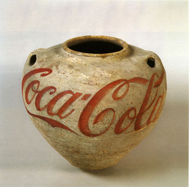 Han Dynasty Urn with Coca-Cola Logo. Ai WieWei. 1994. http://www.maryboonegallery.com/artist_info/pages/ai/detail1.html