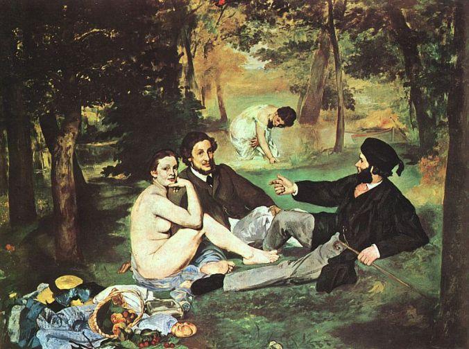 Dejeuner sur l'herbe. Edouard Manet. 1863