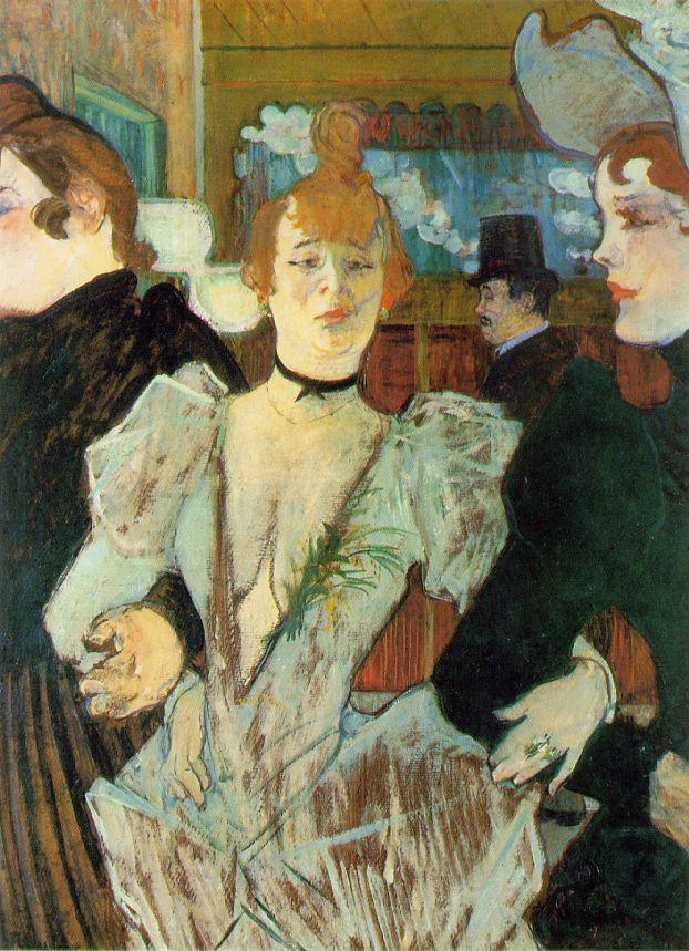 La Goulue arrivant au Moulin Rouge. Henri Toulouse-Lautrec. 1892